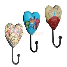 Retro Love Heart shape Coat Robe Hanging Hook Clothes Hanger Holder Home Ornament