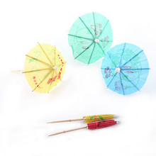 50pcs/pack Drink Fruit Cake Sticks Party Decor Peacock Umbrella Cocktail Firework Goldfish Wedding Party Decoration
