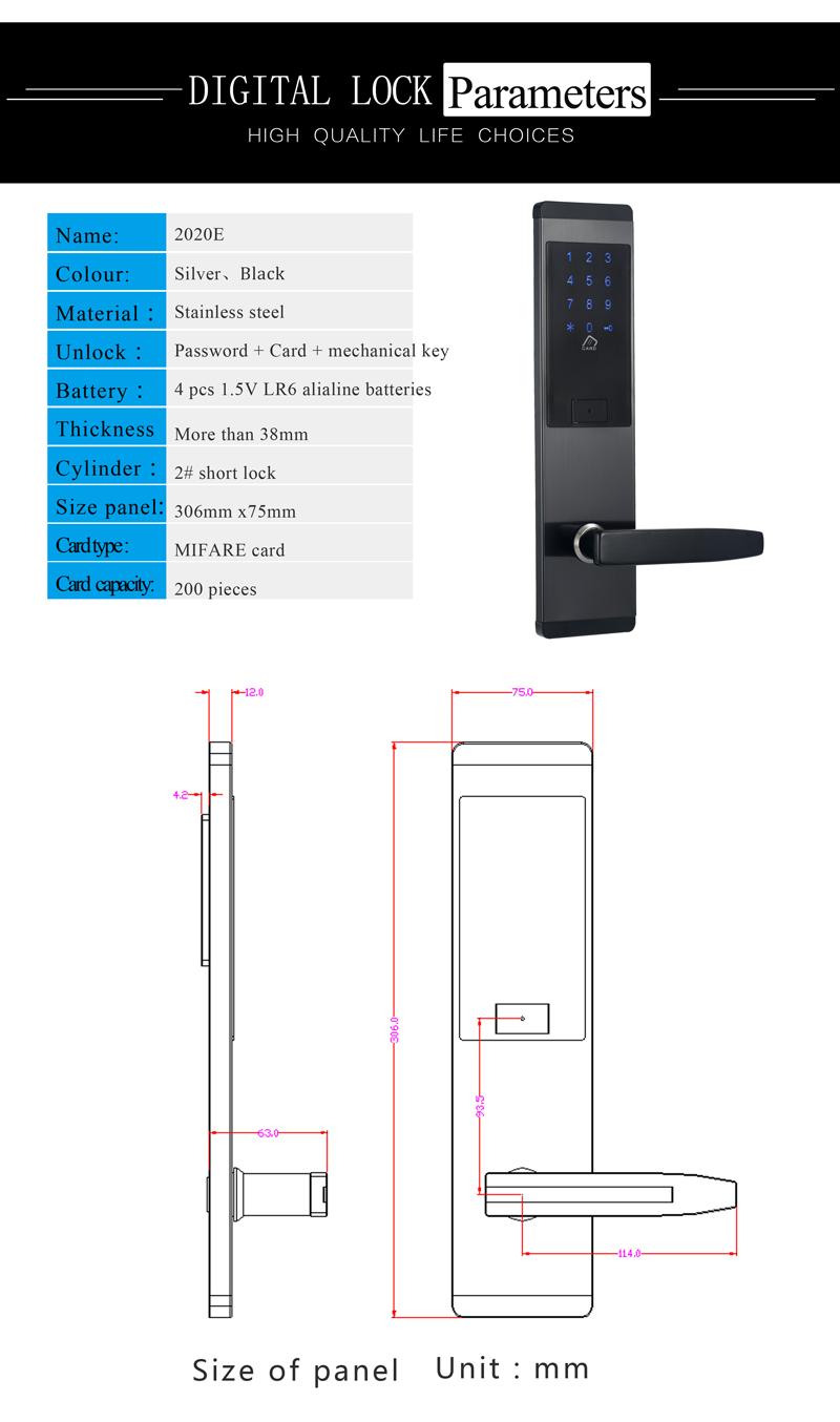 Security Combination Touch Screen Keypad Password Lock Door Home Office Door Lock