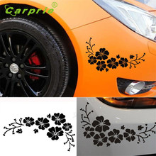 2017 Flower Vinyl Remove Car Decor Black Car Sticker Decal Window Graphics Car Decal Adesivo pegatina fashion beauty oct13(China)