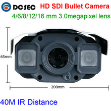 High Quality Metal IR 40M Camera 1080P Water-proof Bullet HD SDI Camera with 4/6/8/12/16 mm 3.0megapixel fixed lens(China)
