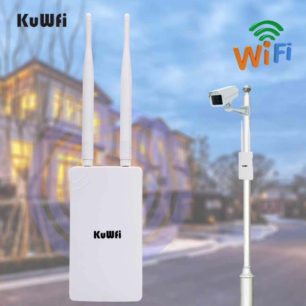 Kuwfi Cpe Wds Waterproof 1000mw 300mbps Wireless Bridge Point To Tenda O3 Outdoor 24ghz Wifi Repeater Extender Wide Area Indoor Wi Fi Amplifier