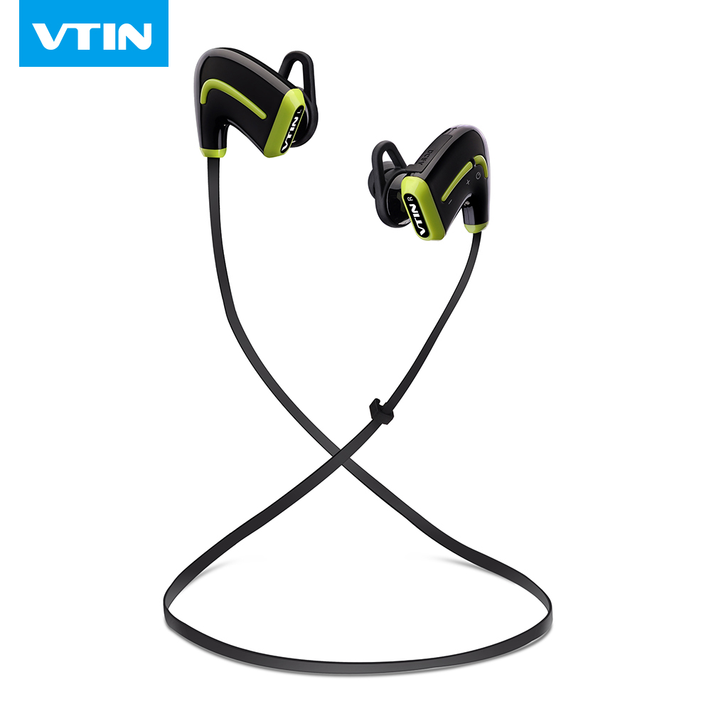 VTIN wireless Bluetooth 4.0 Headset HIFI Stereo sound lightweight earphone sweatproof sports HandsFree headphone with microphone<br>