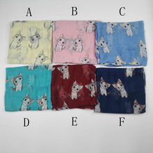 [Visual Axles] Wholesale 2017 New Fashion Cat Scarf Women Viscose Animal Cat Print Scarves Shawls Wraps