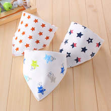 High Quality Double Layers Cotton Baby Bandana Bibs Burp Cloths Lovely Cartoon Animal Star Beby Kids Dribble