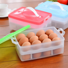 Kitchen Egg Storage Box Organizer Refrigerator Storing Egg 24 Eggs Organizer Outdoor Portable Container Storage Egg Orgainzer