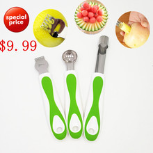 New Stainless Steel Melon Scoop Fruit Spoon Ice Cream Dessert Sorbet Scoop Lemon Zester Easy Twist Core Seed Remover Apple Corer