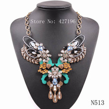 The Most Beautiful Popular Statement Charming Luxury Jewellery Gold Color Special Clasp Resin Stone Necklace For Nice Female
