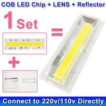 1 Set LED COB Lamp Bulb Chip with LED Lens Reflector 230V 220V 110V 30W 50W 70W 100W 150W For LED Flood Light DIY(China)