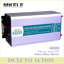 MKP4000-121-C Off Grid Dc12v Ac 110v Inverter 4000w Pure Sine Wave Solar Voltage Converter With Charger And UPS Display China
