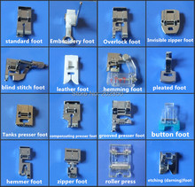 16 Pcs Different Presser Foot For Multi-Function Household Sewing Machine,Compatible With Brand Of Singer,Brother,Janome,Acme..
