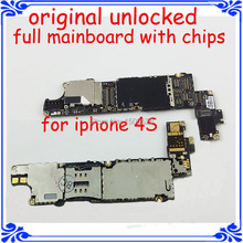 mobile phone Circuits board for iphone 4s main board 100% original main plate 16GB unlocked motherboard IOS system logic board