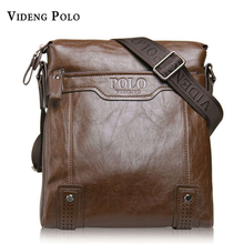 VIDENG POLO Brand Bag Men Classic one shoulder inclined across packages Business man bags Soft leather double texture men's bags