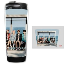 HOT SALE BTS Models Double Insulation Plastic Good Quality Mug Coffee Cup Space Cup BZ1087