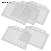 5x White Clear Plastic Credit Card Holder Case For Students(China)