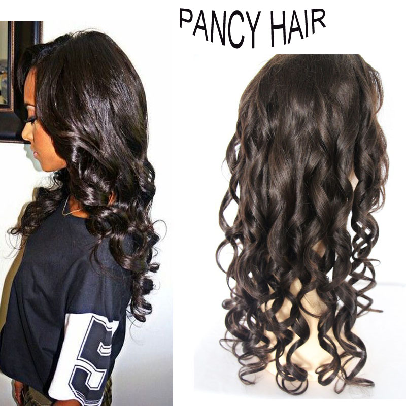 7A peruvian 130% Density Loose Wave Human Hair Wigs Remy  Wig with Baby Hair 100% Human Hair Lace Wig With Natural Hairline<br><br>Aliexpress