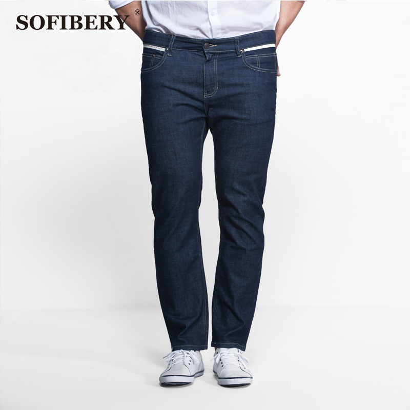 SOFIBERY modern high elastic large size mens jeans Slim Skinny business casual and simple process without quality first jeansОдежда и ак�е��уары<br><br><br>Aliexpress