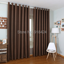 Finish Product Linen Thicken 900g Thermal Insulated Sound Insulation Blackout Curtains,Modern Living Room Curtains(China)