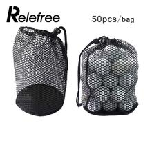 Relefree Outdoor Golf Mesh Net Bag Golf Tennis 12/25/50 Balls Carrying Holder Drawstring Storage Pouch with Bottom only Mesh Bag(China)