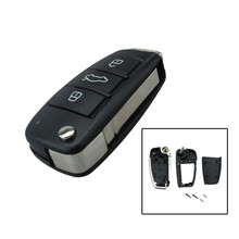 Car Case Replacement Folding Flip Remote Key Shell Case 3 Button Case For AUDI A2 A3 A4 A6 A6L A8 TT with logo
