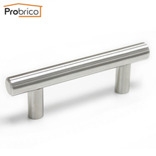 Probrico Wholesale 100 PCS Kitchen Cabinet T Bar Handle PD201HSS64 Stainless Steel CC 64mm Furniture Drawer Knob Cupboard Pull(China)