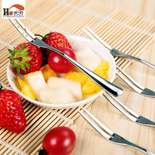 5 pcs/set Hotel restaurant Party Supplies salad Snacks Cake Dessert Stainless Steel Lovely Fruit Fork tableware Cooking Tools(China)