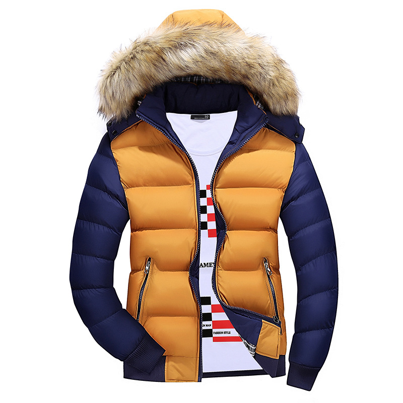 Fashion Winter Jacket Brand Men Warm Duck Down Parkas Casual Fashion Fur Collar Thick Hooded Detachable Cap Coat OuterwearОдежда и ак�е��уары<br><br><br>Aliexpress
