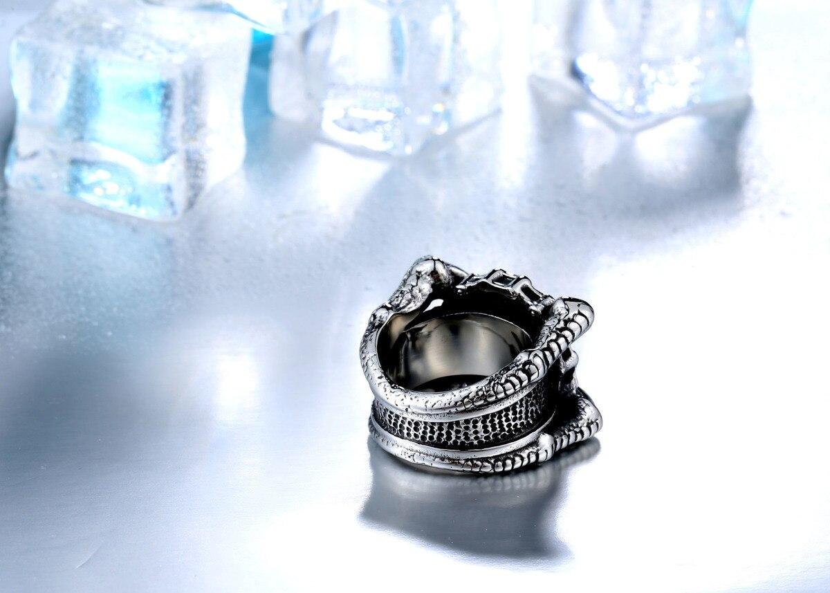 แหวนโคตรเท่ห์ Code 021 แหวน Biker สแตนเลส เท่ห์ๆโหดๆ8