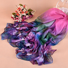 Scarf Limited 2017 Spring New Scarves Gorgeous Large Flower Quality Imitation Silk Lady Square Scarf Manufacturers Wholesale(China)