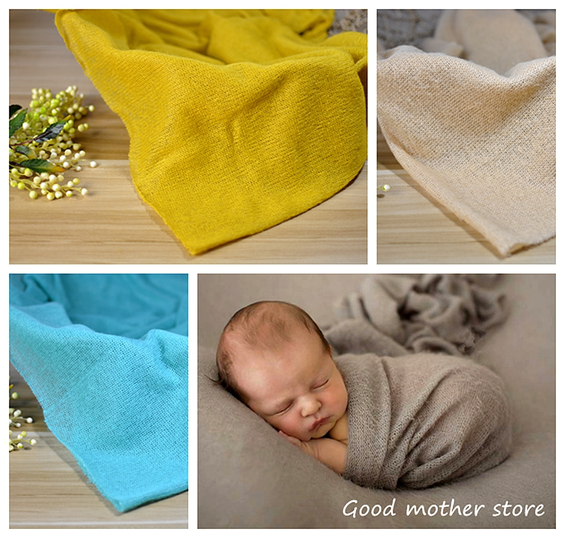 50*160 cm baby warp newborn photography props baby soft cotton wrap colourful wrap photo accessory props