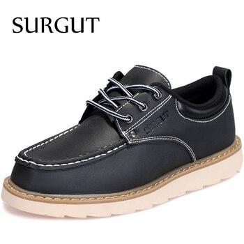 Surgut marca mens sapatos casuais rendas até vestido design de moda homem verão homem sapatos de trabalho diárias básicas 2017 simple confortável sapatas dos homens