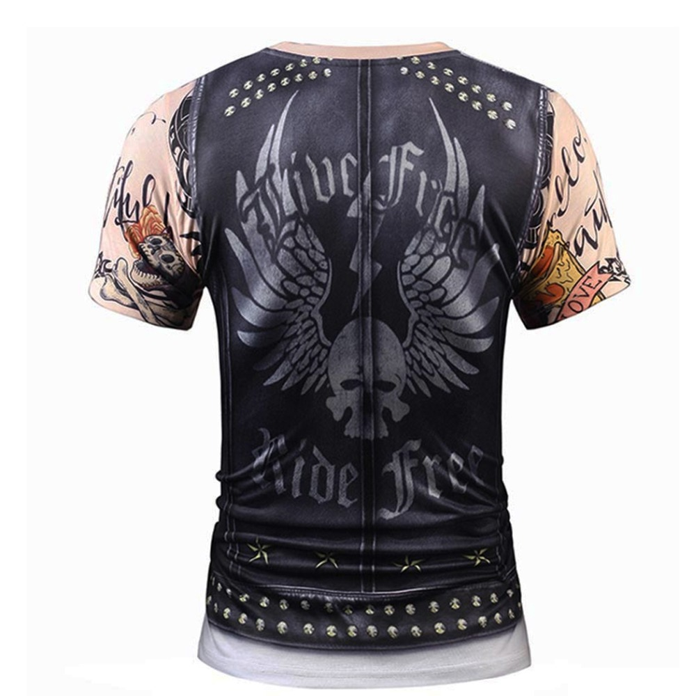 2018 Summer Hip Hop Men's 3D Printed T-Shirt Two Pieces Vintage Short Sleeve Tops T Shirt Top &Tees Homme
