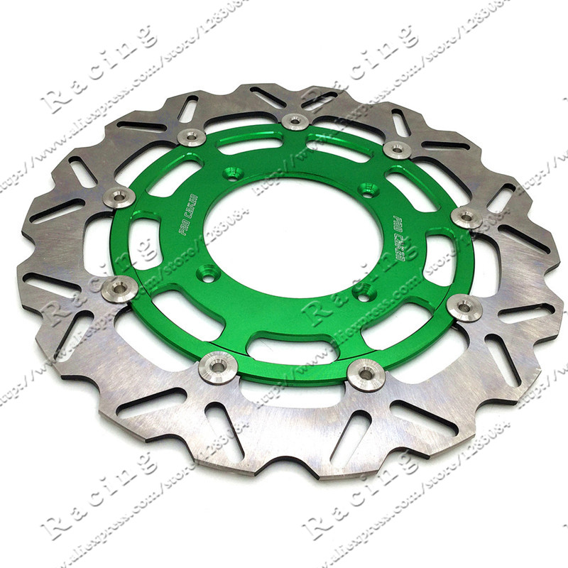 320MM Oversize Front Floating Brake Disc Rotor Plate Fit For Kawasaki Dirt Pit bike Racing Motorcycle Supermoto<br>