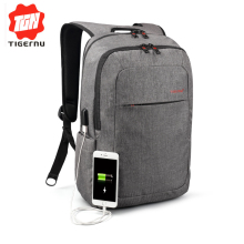 2017 Tigernu Brand External USB Charge Backpack Male Mochila Escolar Laptop Backpack men women School Bags  Backpack for teens