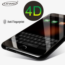 LEWEI 4D Glass For iPhone 7 Tempered Glass 3D Screen Protector Frosted Protection Full Cover Glass Film for iPhone 6 6s 7 Plus