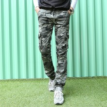 summer style military pants camouflage cargo pants 2017 men casual camouflage trousers male train pants Army Green feet