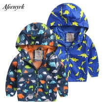 Kids Winter Coat Dinosaur Clothing Boys Autumn New Children Wear Cartoon Jackets Fashion Casual Shirt Breathable Sports Cardigan(China)