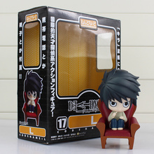 Anime DEATH NOTE PVC Figure Toy Nendoroid 17# L Lawliet 10cm Q Version Model Doll for Children