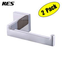 KES Toilet Paper Holder RUSTPROOF Stainless Steel Bathroom Tissue Towel Hanger Wall Mount Polished/Brushed 2 PCS(China)