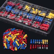120pcs/lot New Insulated Electrical Crimp Connector Wire Terminals Assorted Kit 22-10AWG Red Blue Yellow For Cars Accessories