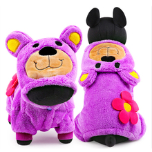 2015 Autumn Winter Pet Dog Clothes Jumpsuit Fleece Bear Puppy Hoodie Coat Halloween Costume Teddy Poodle Pug Clothing XXS XS -L