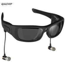 QIACHIP Eyewear Sunglasses Mini Camera Support TF Card Video Recorder DVR MP3 Camcorder Music glasses with Bluetooth Headset H3(China)