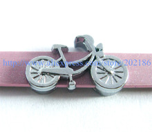 10pcs bicycle SL402 Internal Dia.8mm slide Charms Jewelry Finding fit 8mm wristband pet collar key chain(China)