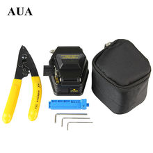 Free shipping Fiber Optic Tool 3 in 1 FTTH Splice fiber optic tool kits Fibre stripping +SKL-6C fiber cleaver(China)