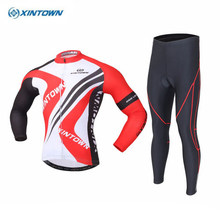 XINTOWN Outdoor Team Mens Clothing Set Ropa Ciclismo MTB Bike Bicycle Cycling Long Sleeve Jersey Bib Pants Suits