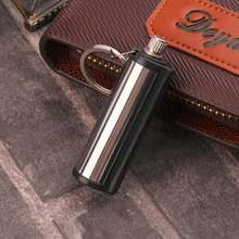 Home Use Stainless Steel Permanent Survival Camping Emergency Fire Starter Flint Match Lighter With KeyChain