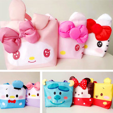 Girls Cute Kawaii Melody Shoulder Bag Children Cartoon Hello Kitty Bowknot Handbag Minnie Kids Girls Shoulder Bag Shopping Bag