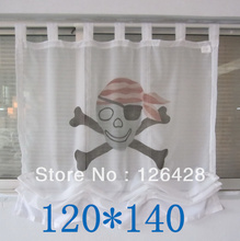 New Non-mainstream printed window screens loop style tulle samll curtain 1pcs(China)