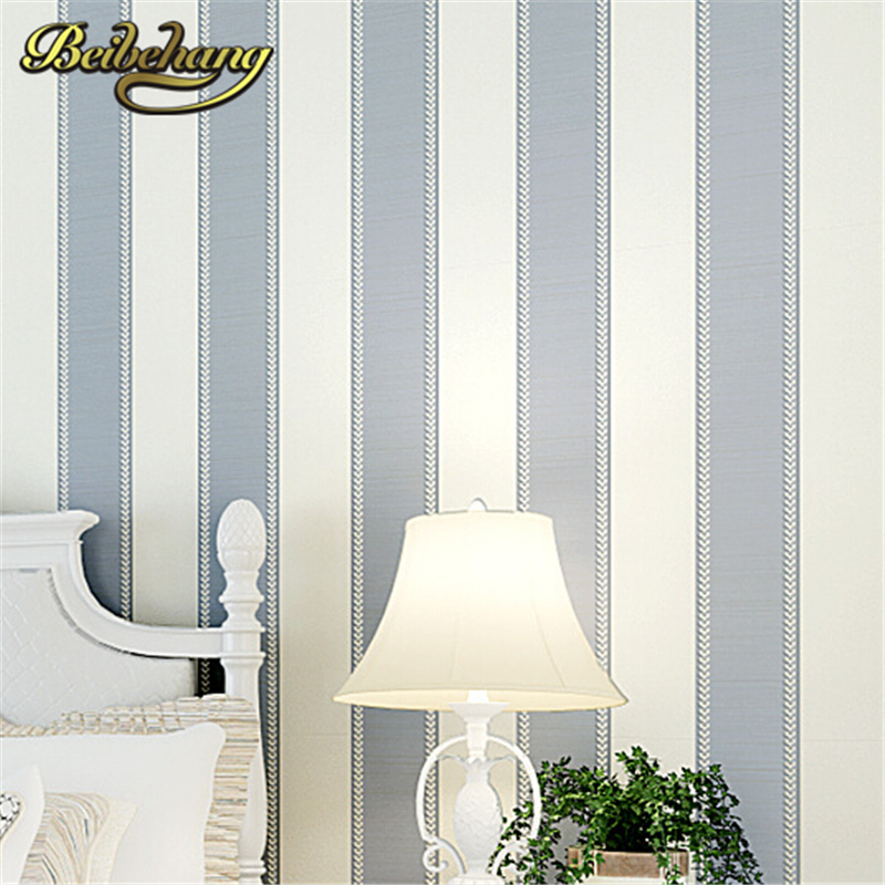 beibehang  High Quality Mural modern striped wallpaper for wall papel de parede tapete of bedroom living room blackground <br>