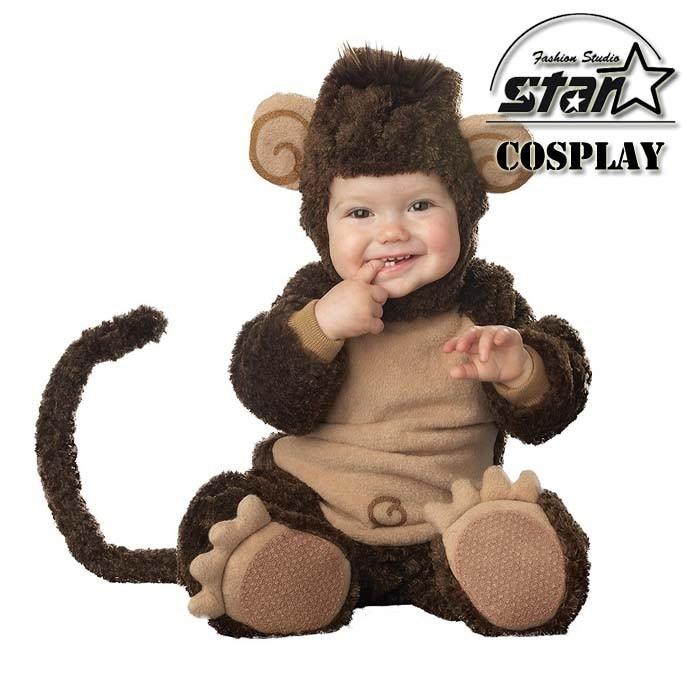 Kids Costume Fleece Romper Set Baby Animal Cute Jumpsuits Overalls 2015 Winter Animal Cosplay Shapes Halloween Christmas Costume<br>